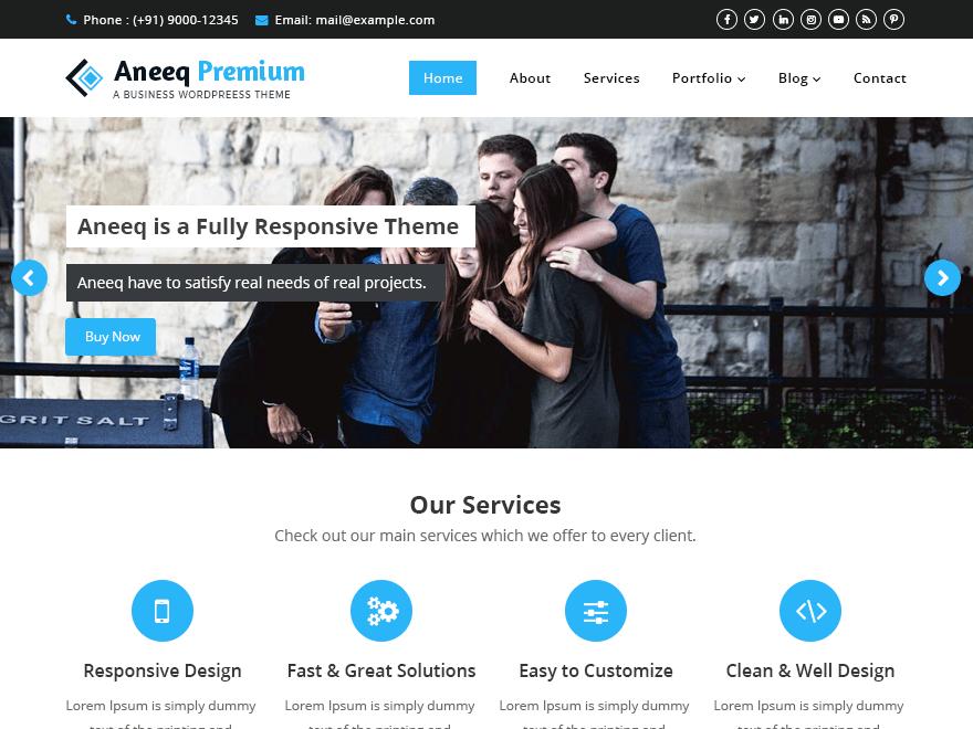 Aneeq WordPress Theme