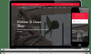 Daron Premium WordPress Theme Responsive Frame