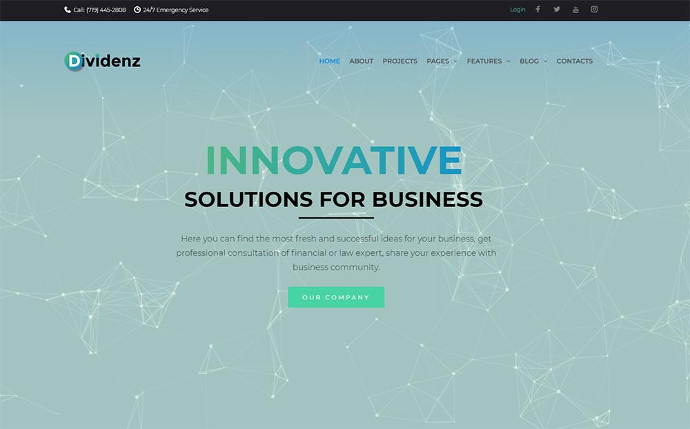 Dividenz-Investment-Company-Elementor-WordPress-Theme