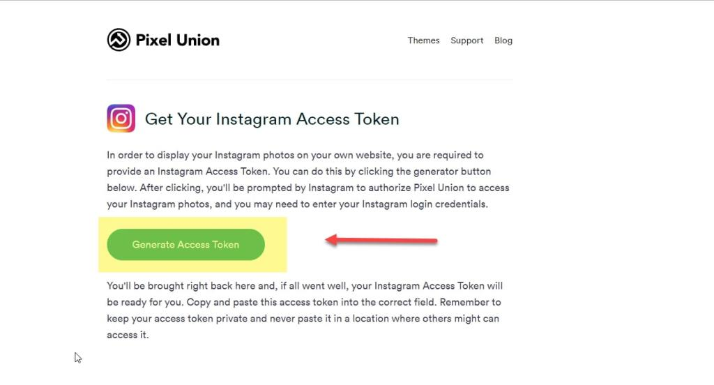 Get Instagram Access Token using the Client ID