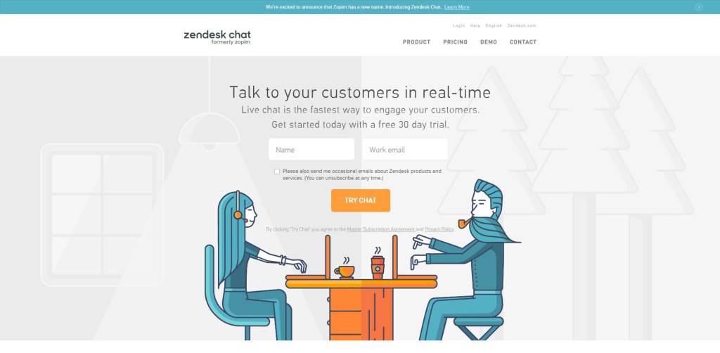 Zopim Zendesk Live Chat Tool