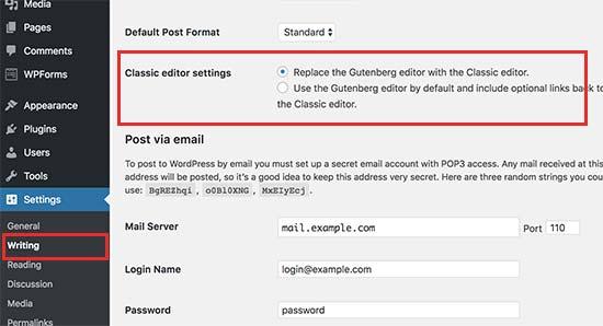 Get WordPress Classic Editor Back