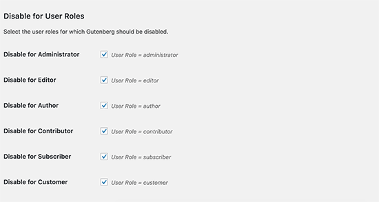 Gutenberg from everywhere for all users