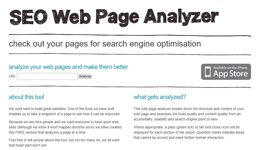 SEO Web Page Analyzer