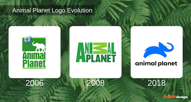 Animal Planet logo evolution