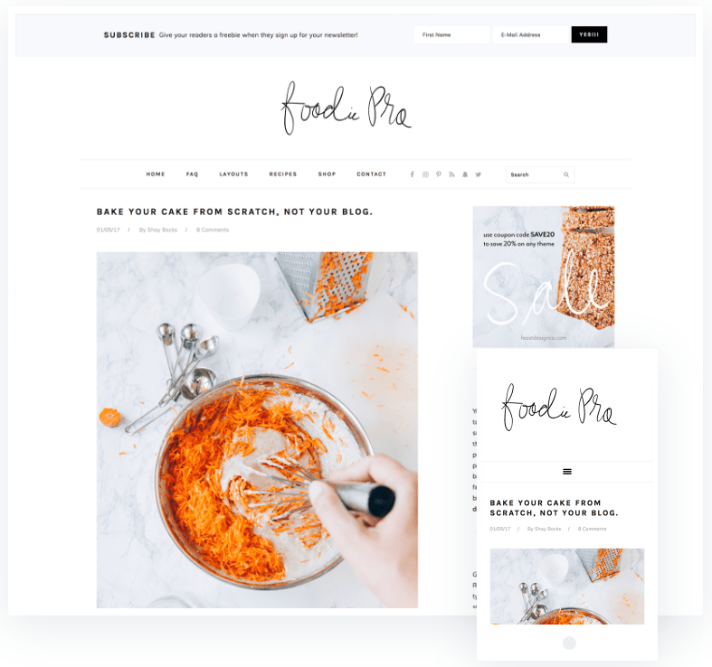 Foodie Pro WordPress theme