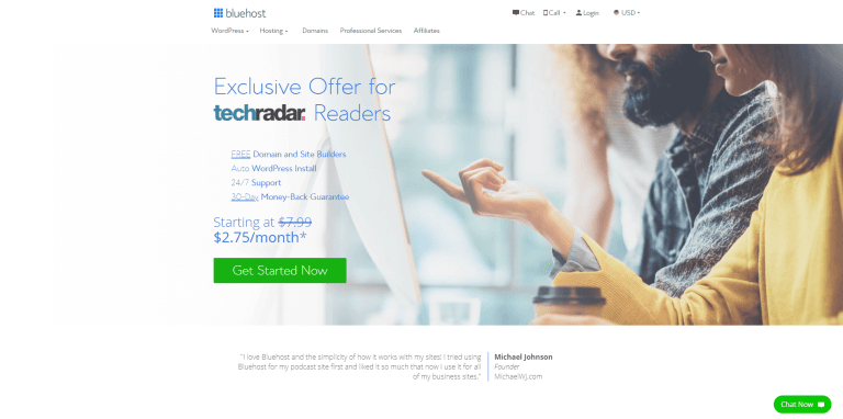2. Bluehost