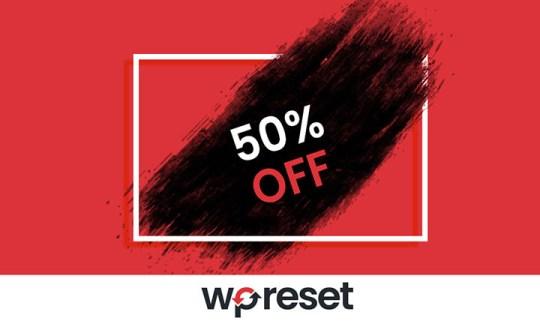 WP Reset discount coupon