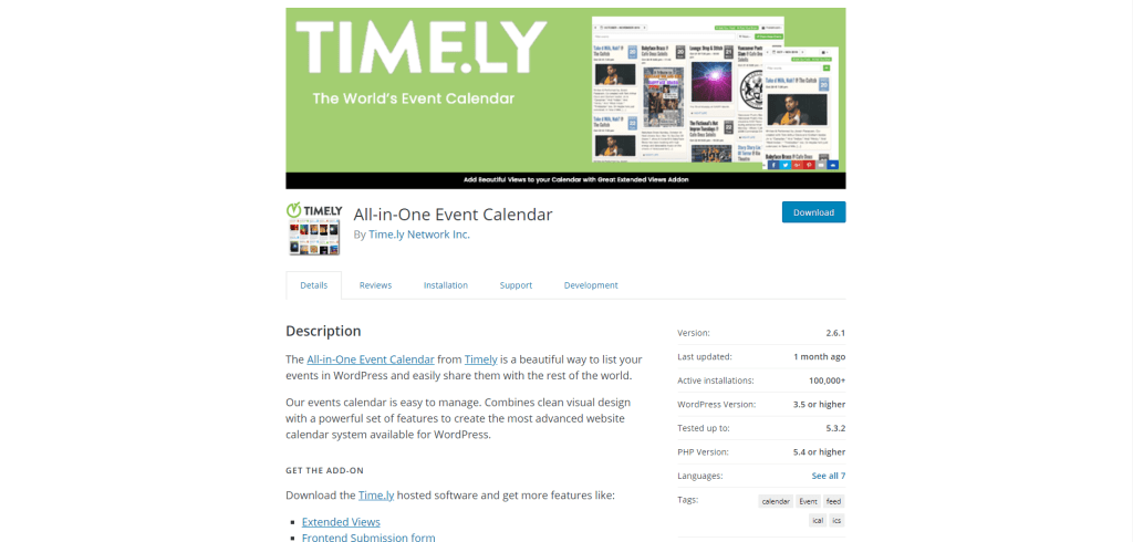 5. All-in-One Event Calendar