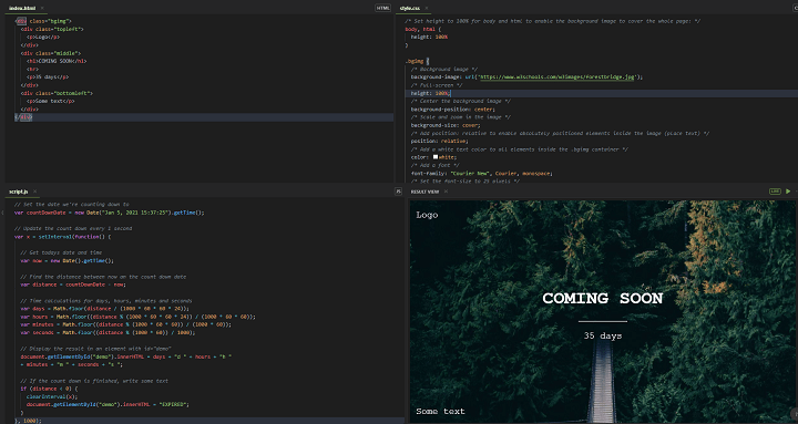 Creating Coming Soon Page with HTML CSS and JavaScript