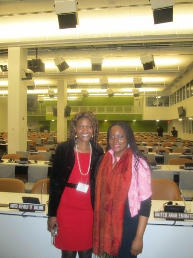 Mary Olushoga and Vivian Onano