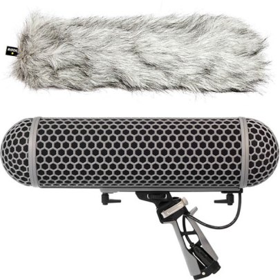 Rode Blimp Windshield and Rycote Shock Mount Suspension System for Shotgun Microphones Microphone Accessories audio