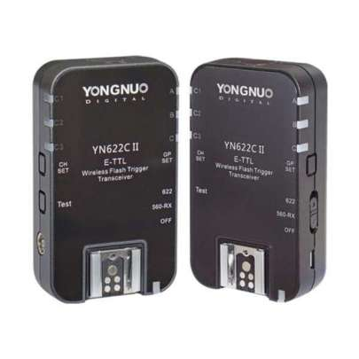 Yongnuo Yn-622C Ii E-Ttl Wireless Flash Transceiver Flash Radio & Optical Slaves Battery And Charger