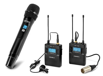 Comica Audio CVM-WM300B 2-Person Camera-Mount Wireless Combo Microphone System Pro Audio audio