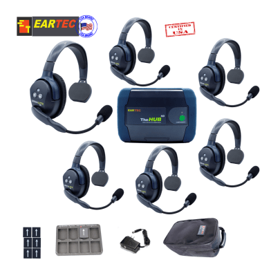 Eartec Hub6s  Ultralite Hd & Hub 6 Users 6 Single Intercom Systems Eartec
