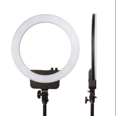 Nanguang Ring Light V24C With Mirror & Bracket Black Lighting Lighting