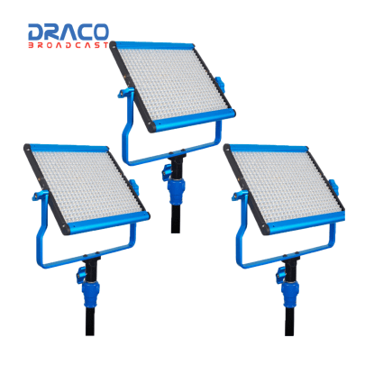 Dracast S-Series LED500 Bi-Color 3 Light Kit with V-Mount Battery Plates Kit Lights Draco Broadcast