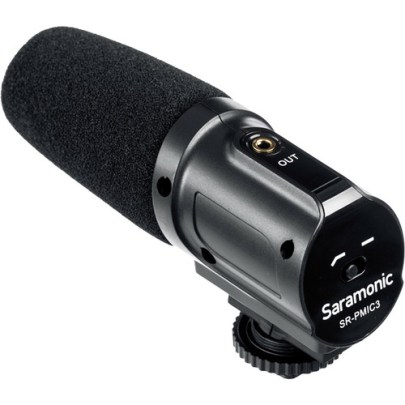 Saramonic SR-PMIC3 3-Capsule Recording Microphone Audio Wired Shotgun Mics ENG/EFP audio