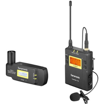 Saramonic UwMic9 Camera-Mount Wireless Omni Lavalier Microphone System with Plug-In Receiver Pro Audio audio