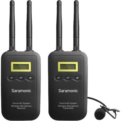 Saramonic VmicLink5 5.8 GHz SHF Wireless Lavalier System and Receiver Pro Audio audio