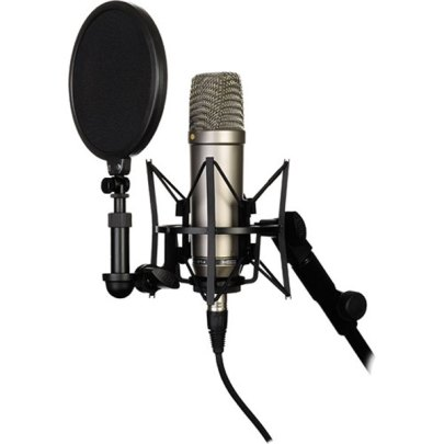 Rode NT1-A Large-Diaphragm Condenser Microphone (Single) Large Diaphragm Recording Microphones audio