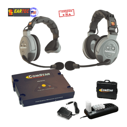 Eartec Comstar Xt211-Eu 2/Pers Full Duplex System All In One Headset Communications & IFB Eartec