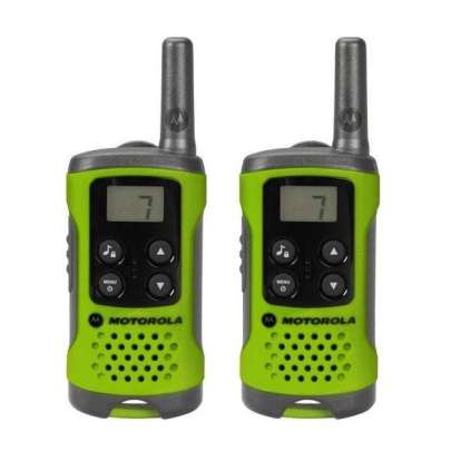Motorola Walkie Talkies T41 Green Twin Pack 2-Way Radios Intercom Systems
