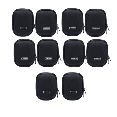 Universal Anti-Shock Hard Shell Camera Case Bag With Blet Loop For Compact Compact Digital Camera Sony Nikon Canon (Black) Camera Bag -237 Pack Of 10Pcs Camera Bags Camera Bags