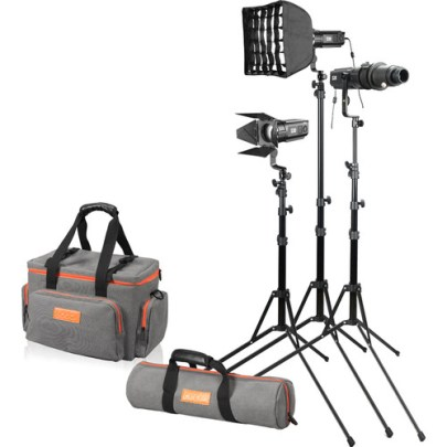 Godox S30-D Focusing LED 3-Light Kit Continuous Lighting Camera Flashes