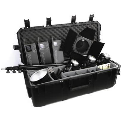 Aputure Light Storm LC 120d II Daylight LED 3-Light Kit with Gold Mount Battery Plate Continuous Lighting Aputure