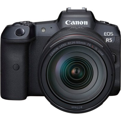 Canon EOS R5 Mirrorless Digital Camera with 24-105mm f/4L Lens Mirrorless Cameras Canon