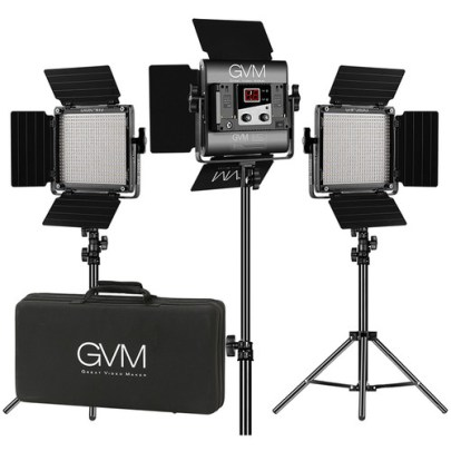 GVM 560AS Bi-Color LED 3-Panel Kit Continuous Lighting GVM