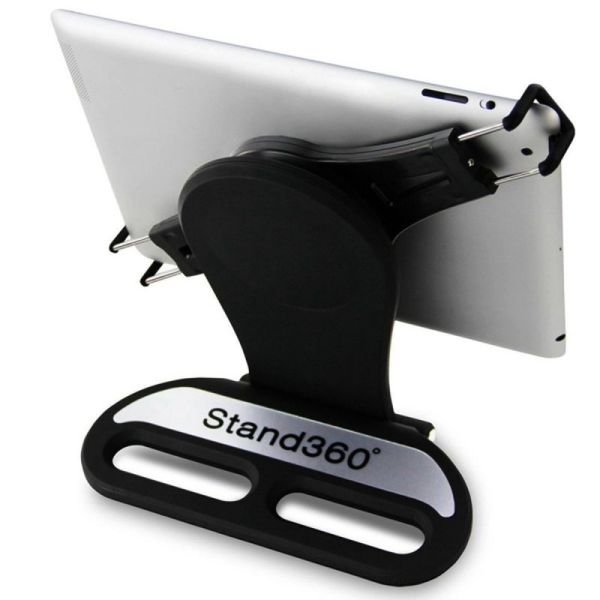 Promage 360 Swivel Rotating Stand Holder Tabletop Stand with Collapsible Base for All iPad Series Mobile Photo & Video Accessories Promage