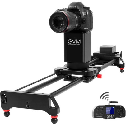 GVM 2D 2-Axis Wireless Carbon Fiber Motorized Slider with Bluetooth Remote (32″) Pro Video GVM