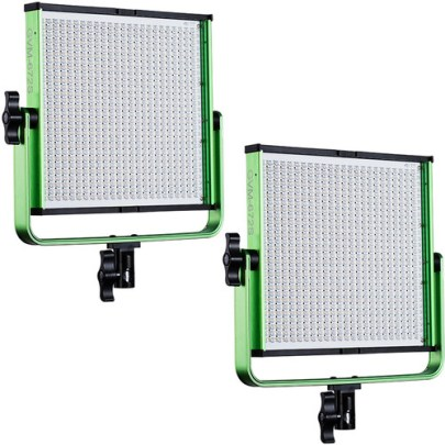 GVM 672S Bi-Color LED Video 2-Light Kit (Green) Continuous Lighting GVM