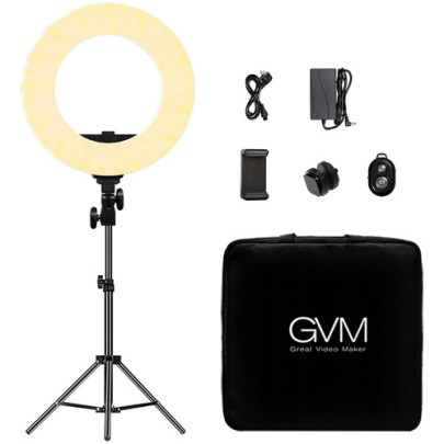GVM Bi-Color LED Ring Light (14″) Continuous Lighting GVM