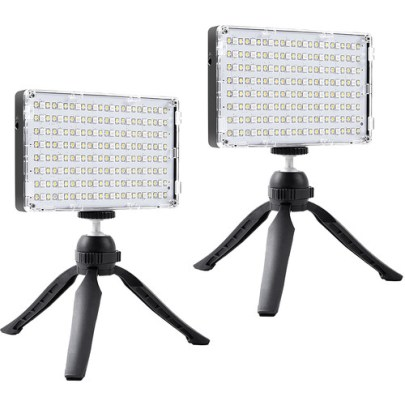 GVM RGB-10S2L On-Camera Video 2-Light Kit On Camera Lights GVM