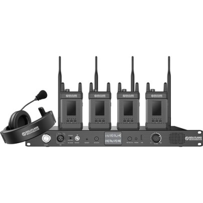 Hollyland Syscom 1000T-4B Full-Duplex Intercom System with Four Beltpacks and Headsets Communications & IFB Hollyland