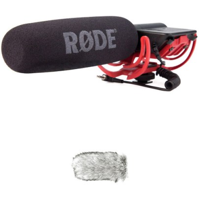 Rode VideoMic Camera-Mount Shotgun Microphone Kit with Dead Cat Windshield Dynamic Recording Microphones Rode