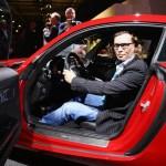 AWR Autoweltrevue Herausgeber Bernd Schweickard nimmt Platz im Mercedes-AMG GT