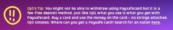 paysafecard details tip