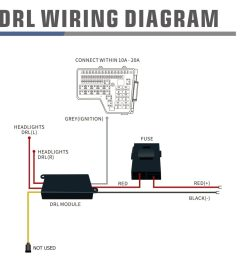 wiring diagram for drl harness with activation light and sequential signal [ 1024 x 1004 Pixel ]