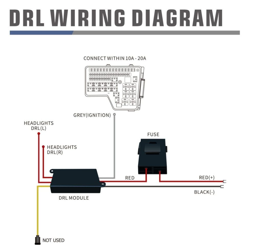 medium resolution of wiring diagram for drl harness with activation light and sequential signal