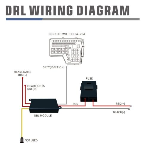 small resolution of wiring diagram for drl harness with activation light and sequential signal