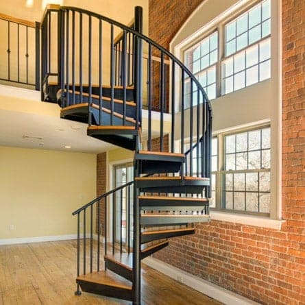 Modern Spiral Staircases Indoor Outdoor Paragon Stairs | Painting Metal Spiral Staircase | Handrail | Iron | Stair Treads | Steel | Staircase Kit