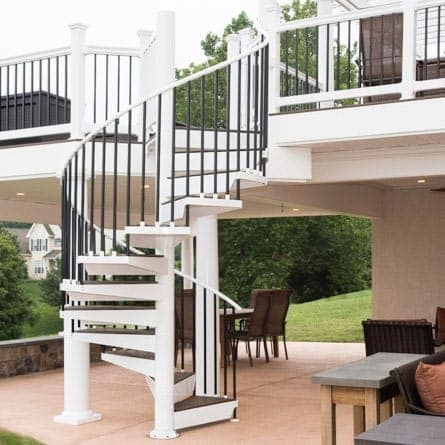 Spiral Staircases For Decks Patios Paragon Stairs | Diy Outdoor Spiral Staircase | Simple | 12 Foot | Metal | Do It Yourself Diy | Curved