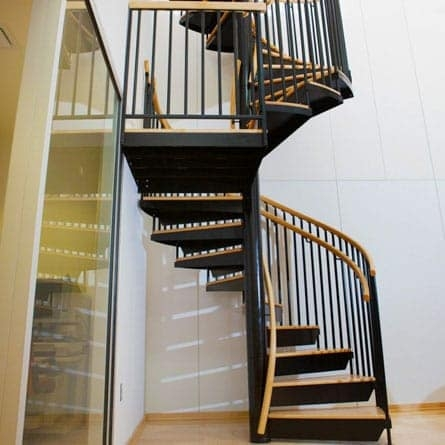 The Allenby Dual Handrail Spiral Stairs Paragon Stairs | Replacement Handrail For Spiral Staircase | Staircase Kits | Floating Staircase | Modern Staircase Design | Staircase Ideas | Steel