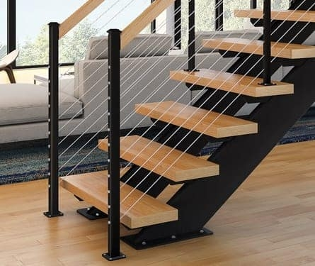 Straight Staircase Stringer Types Paragon Stairs | Solid Oak Stair Stringers | Mono Stringer | Handrail | Steel Stair | Deck Stairs | Flooring
