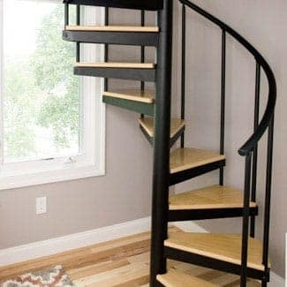 Spiral Staircases Prefab Custom Designs Paragon Stairs | 6 Foot Spiral Staircase | Reroute Galvanized | Stair Case | Mylen Stairs | Wood | Metal