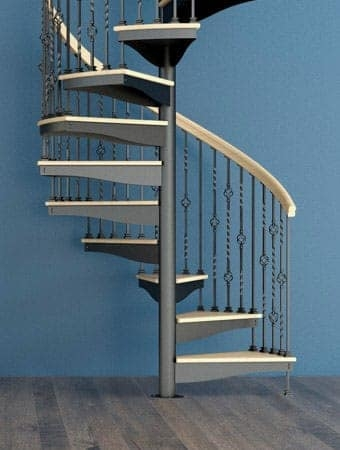Spiral Staircases Prefab Custom Designs Paragon Stairs | Round Stairs Railing Design | Metal | Silver | Loft | Stainless Steel | Brown
